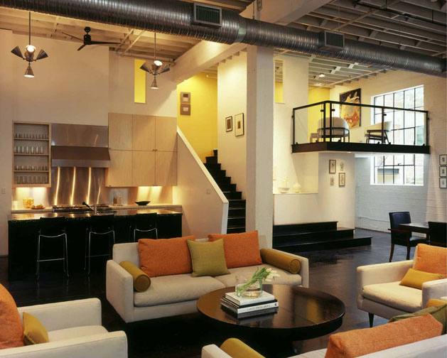 Stylish modern loft by poteet architects idesignarch for Modern loft style house plans