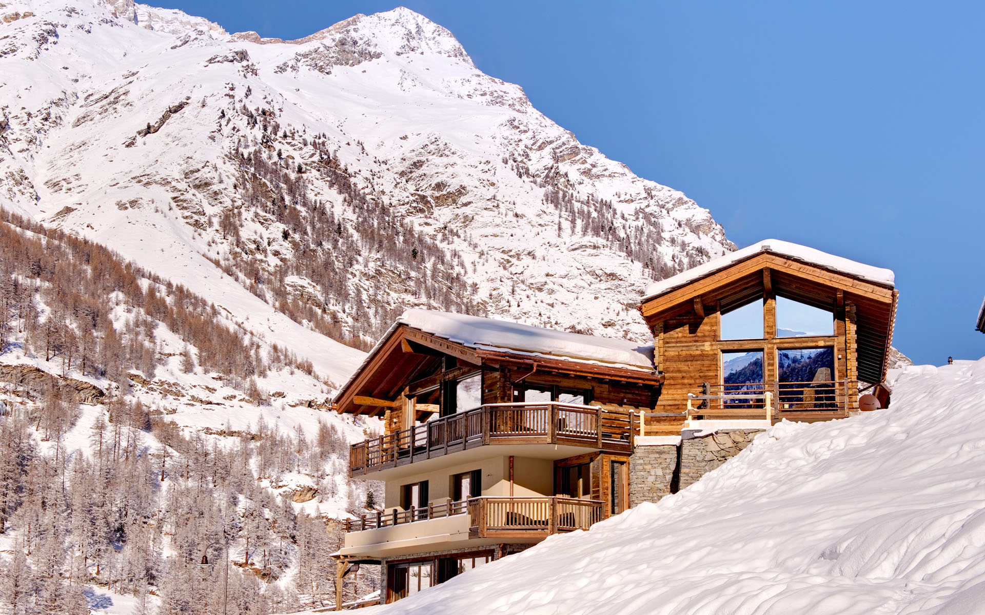 Luxury ski chalet with stupendous view of the matterhorn for Ski cottage