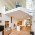 Narrow Semi-Detached House Features Modern Atrium Space