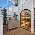Beautiful Glass Wine Cellar Under the Staircase