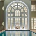 Elegant Villa Double-Height Arched Window