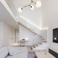 Minimalistic Open Plan Duplex Apartment in Ukraine
