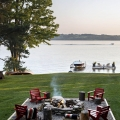 Living the Best Life in Paradise: Lakeside Patios with Firepits