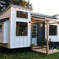 Tiny House Trailer with Exterior Porch and Flexible Interior