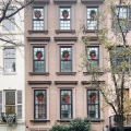 New York City Townhouses Exterior Christmas Decorations