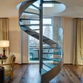 Loft-Style Penthouse Apartment in London with Metal Spiral Staircase