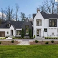 Exquisite Custom Home with Hybrid Modern Tudor Architecture