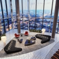 Deluxe Penthouse Apartment with Glass Ceiling and Panoramic Views of Moscow