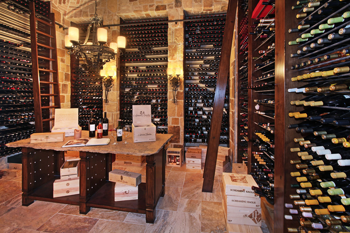 Tuscan Home Wine Cellar