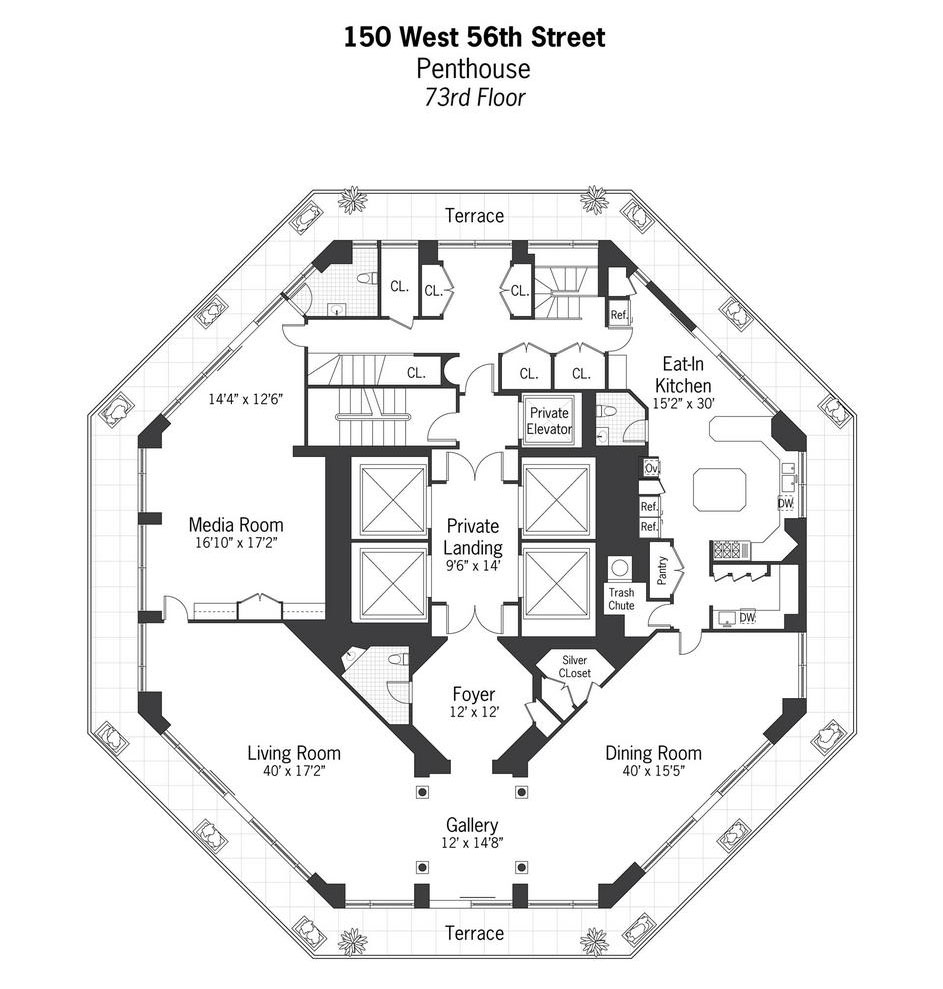 24 Manhattan Apartment Floor Plans The 11 Most: One Of The Most Expensive Penthouses In Manhattan