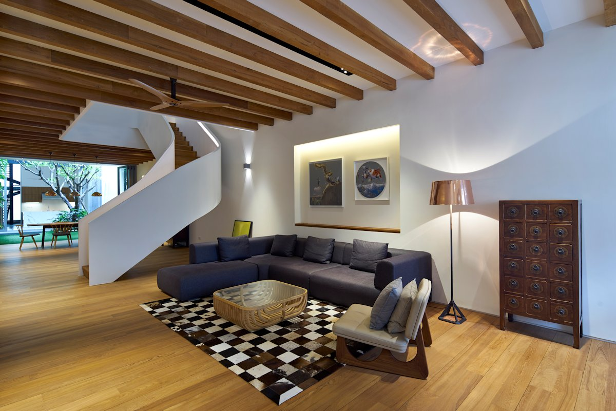 attic bedroom makeover ideas - Singapore Renovated Home Converted From Shophouse