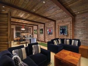 Elegant Home Basement Design