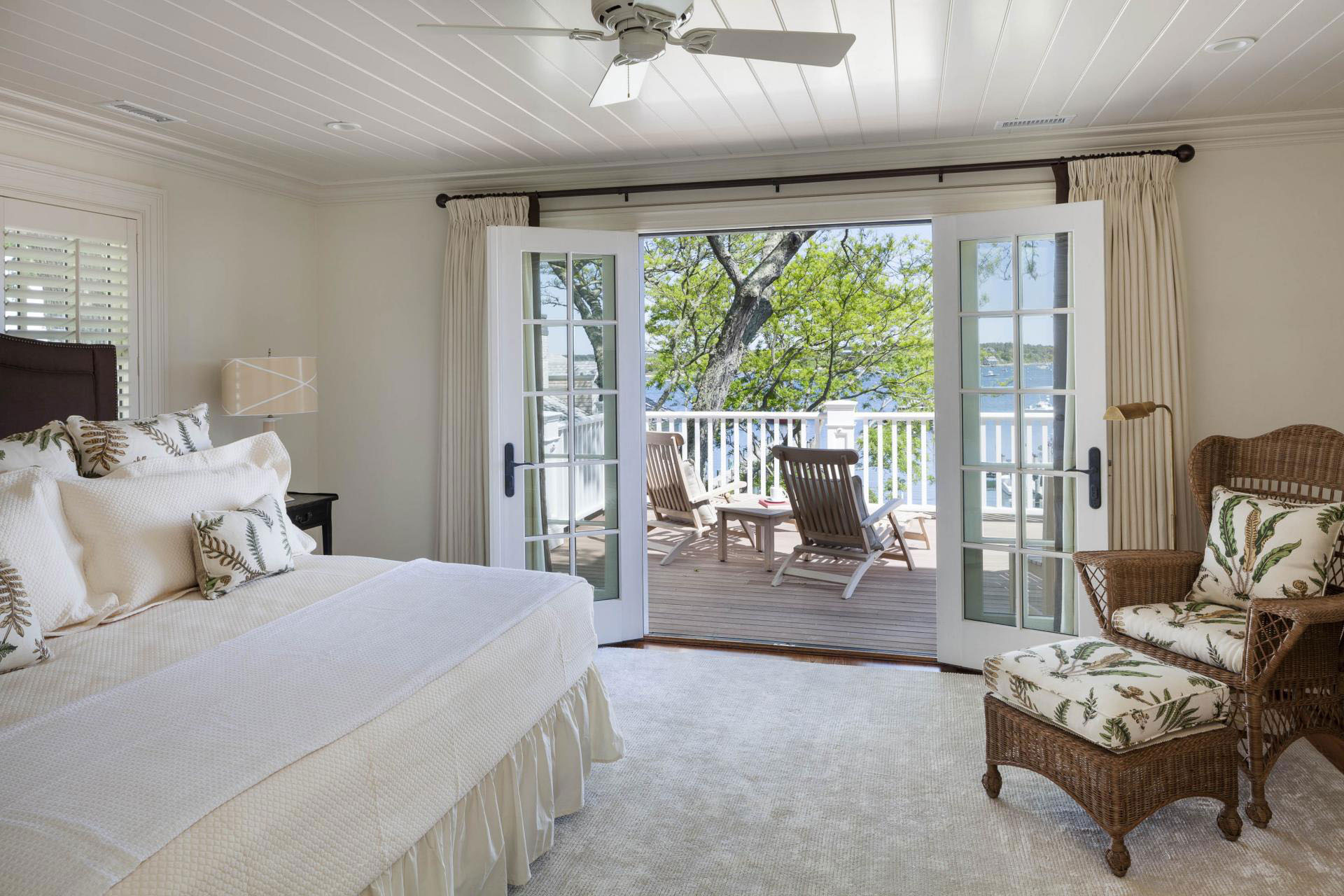 Master Bedroom with Balcony and Water View