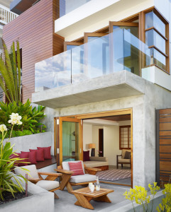 Beach House with Glass Balcony