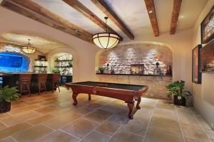 Elegant Home Basement Entertainment Room