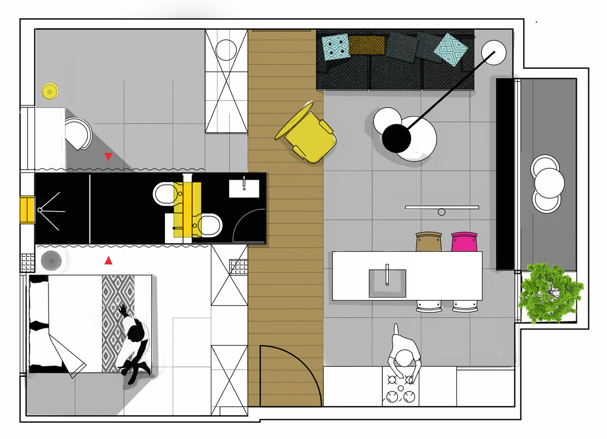 Small Studio Apartment Layout Floor Plans Tiny House