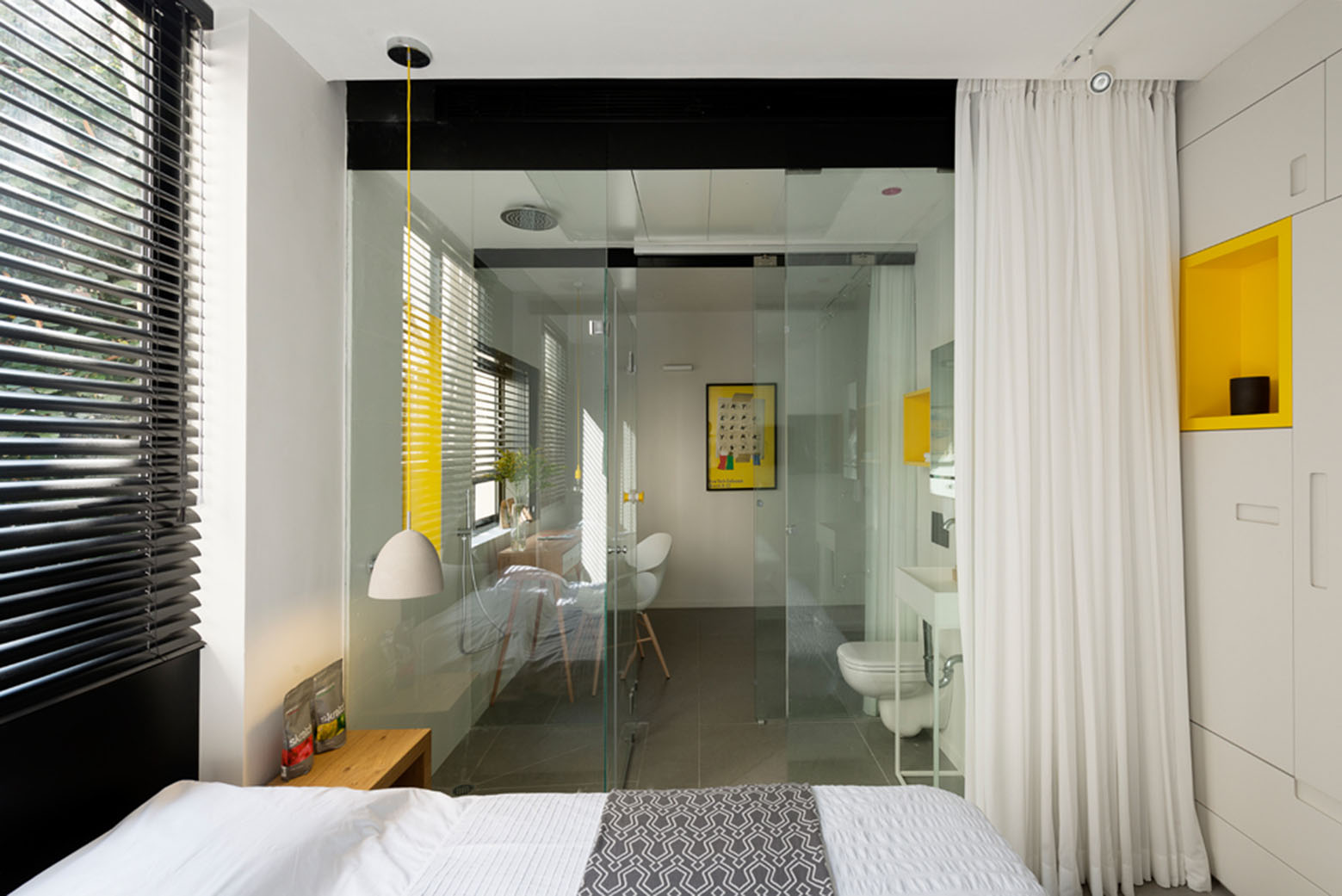 Modern Small Apartment with Glass Walls