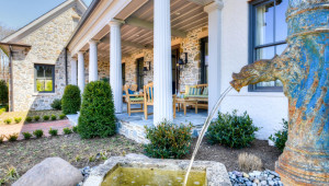 Charming Front Porch with Classic Columns