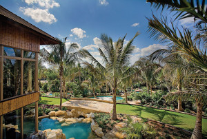 Swimmable Water Gardens and Private Lagoon Plunge Pool