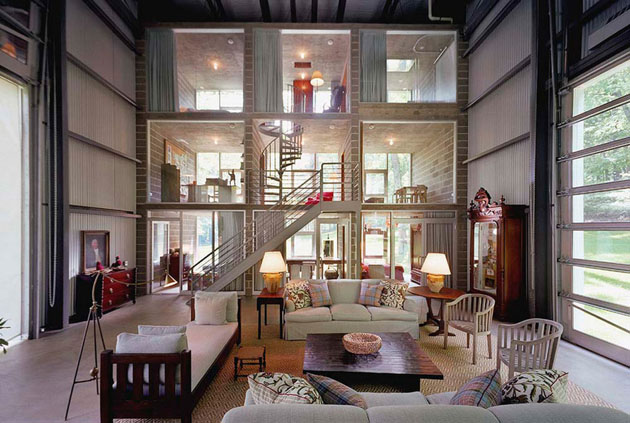 Superb Bunny Lane House A Cottage Inside A Giant Shed Interior Design Ideas Oteneahmetsinanyavuzinfo