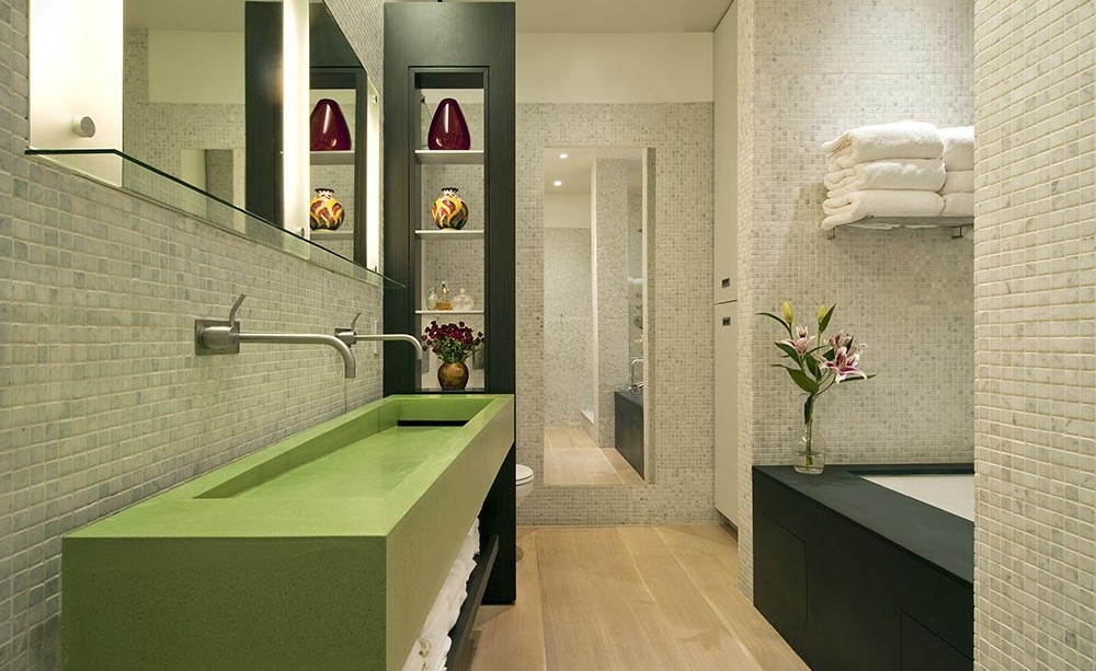 Modern New York Loft Bathroom