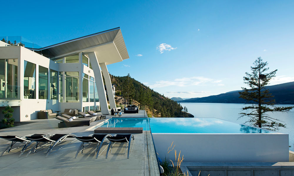 Lakefront Home with Infinity Edge Pool