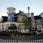 Traditional Shingle Style Classic American Cottage With Lighthouse Tower