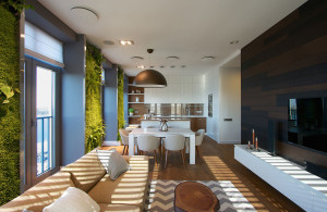 Modern Apartment with Open Kitchen Living Room and Panoramic Views