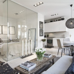 Small 366 Sq. Ft. Apartment With Glass Wall
