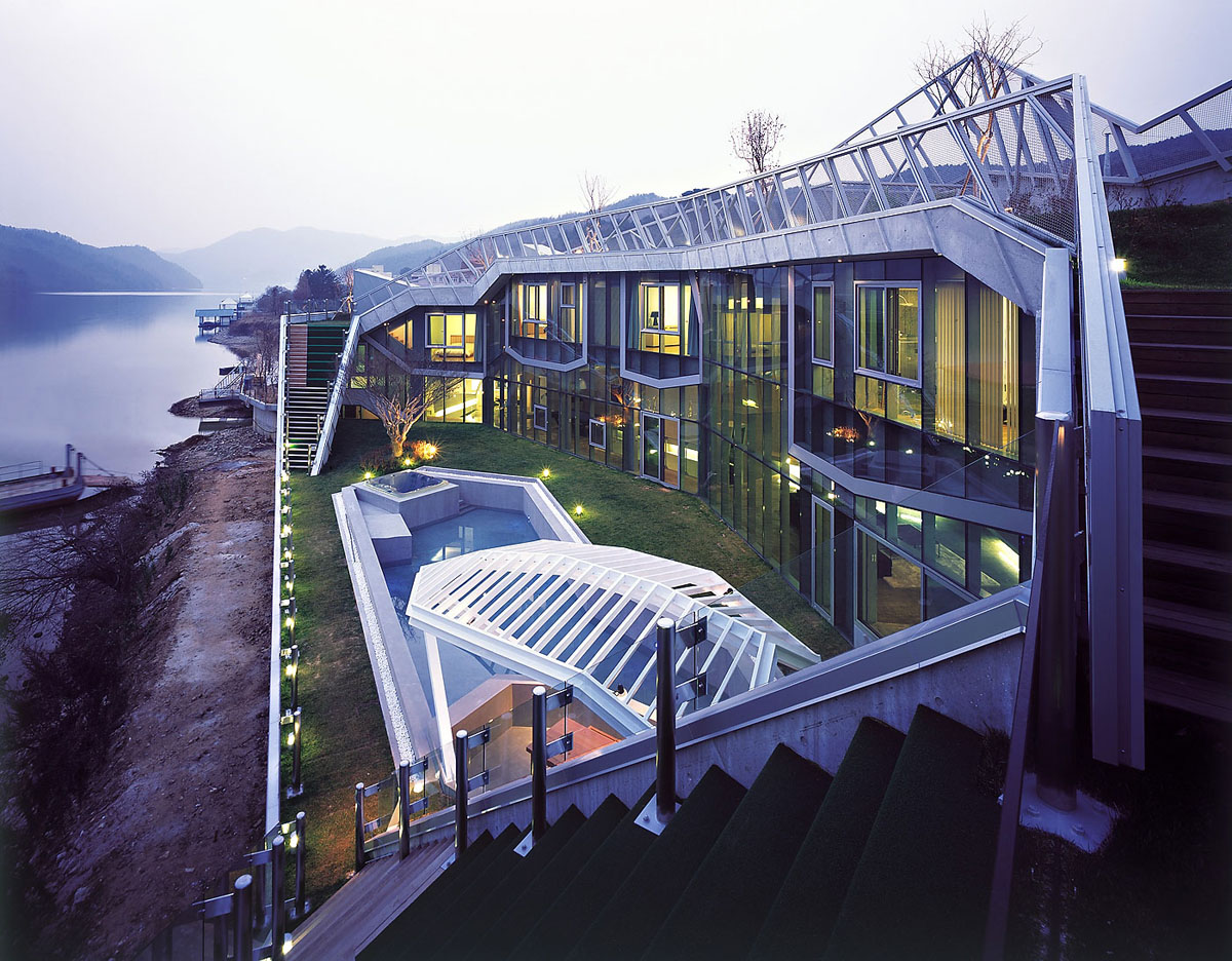 Architectural Island House In South Korea Idesignarch