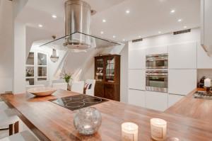 Modern Elegant Kitchen with Wood Countertops