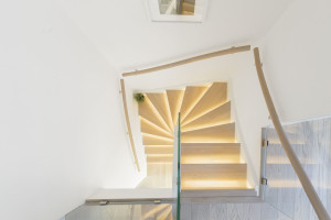Modern Lighted Staircase