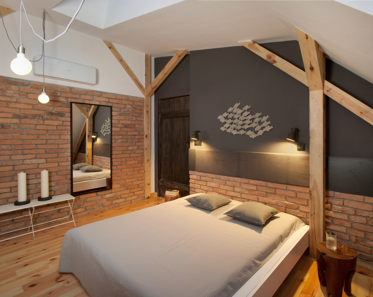 Unique Renovated Attic Loft Space In A Historic Building