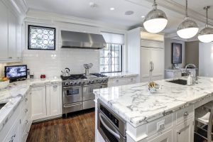 White Marble Luxury Kitchen