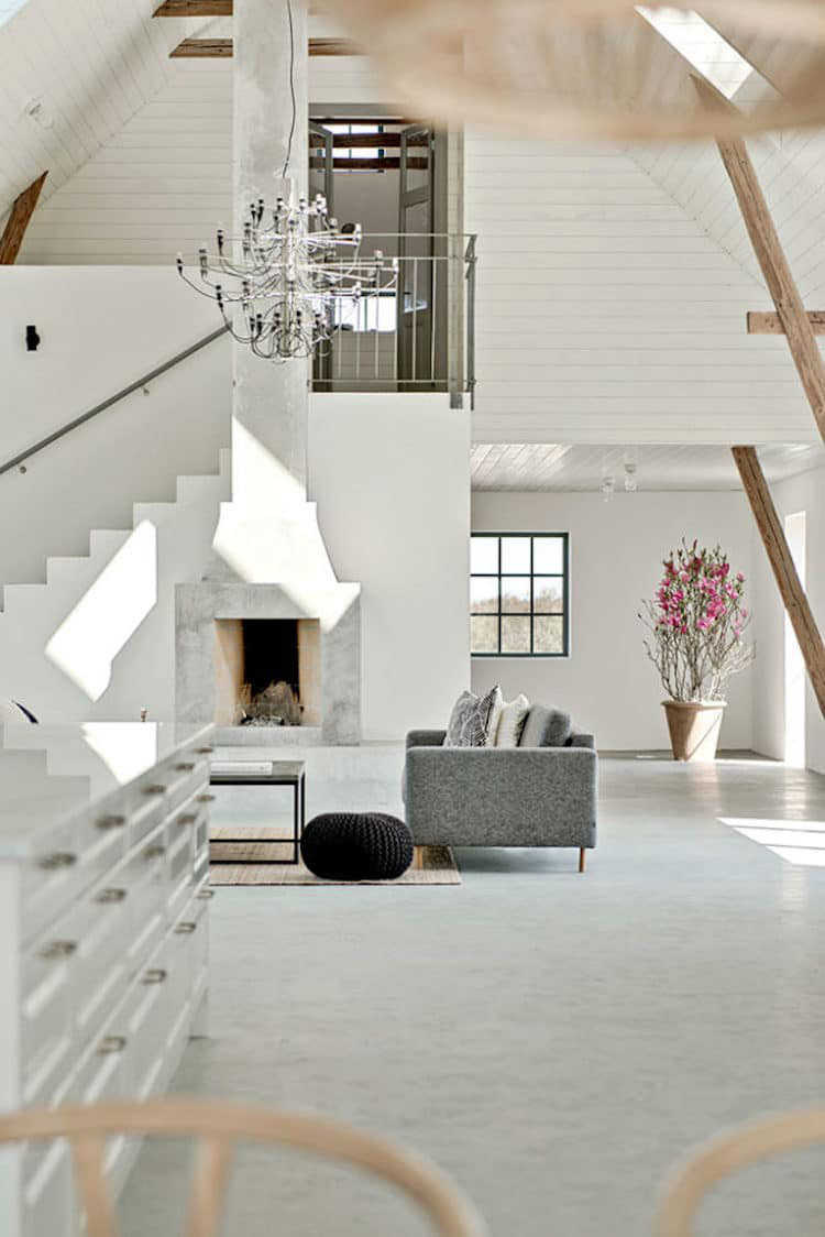 An Old Barn In Sweden Is Converted Into A Modern Country