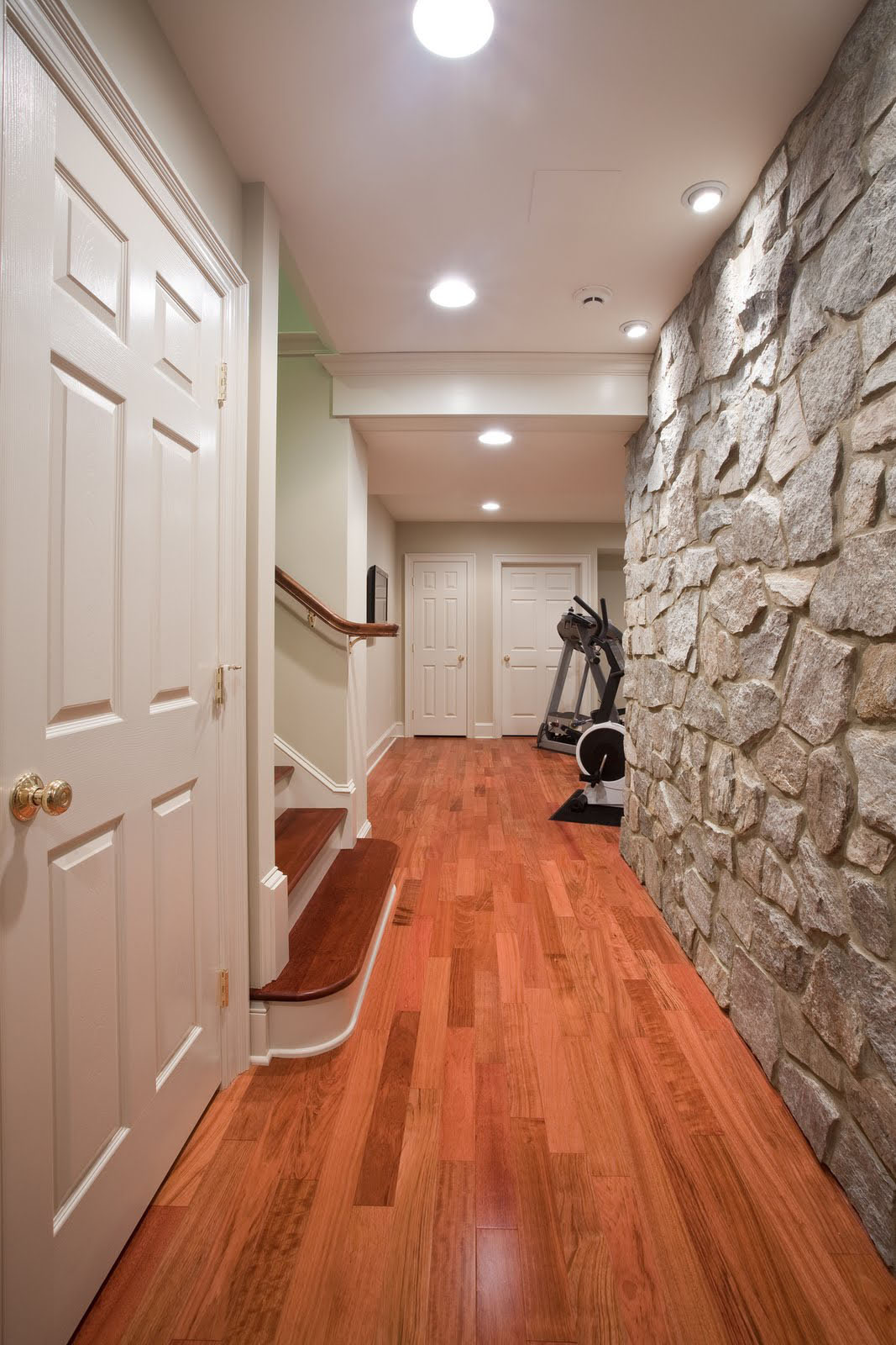 Basement Renovation With Rustic Stone Walls | iDesignArch ...