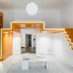 Creative Loft Apartment In Budapest Featuring Accented Design