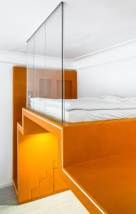 Bedroom Loft with Glass Wall