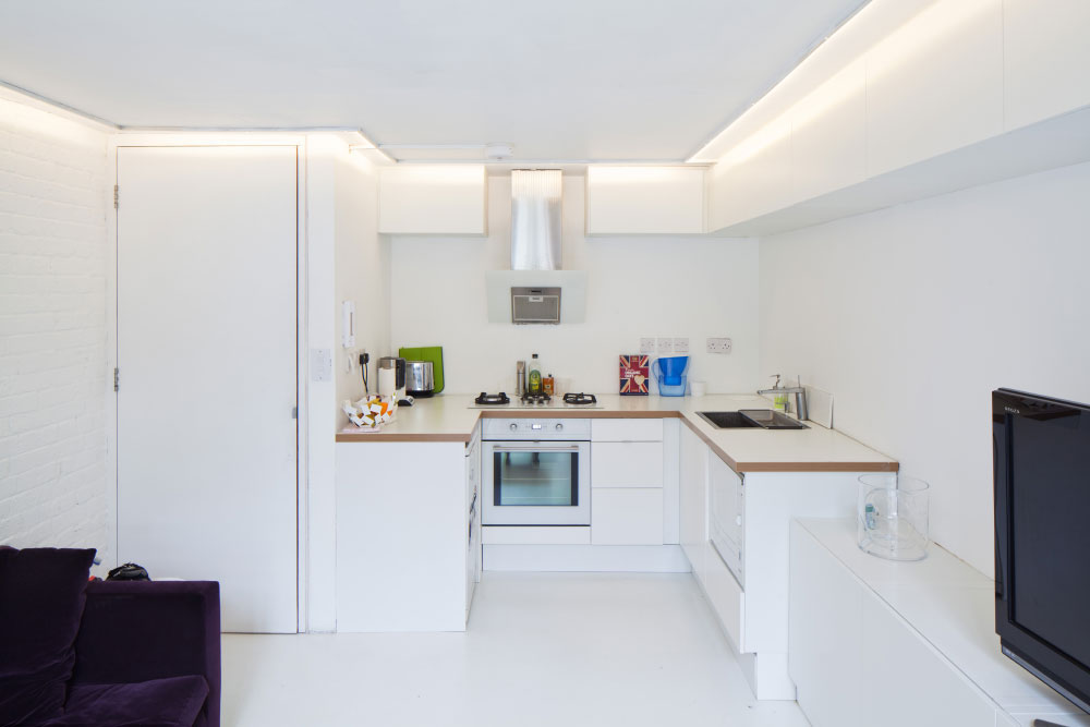 Small Loft Apartment Kitchen