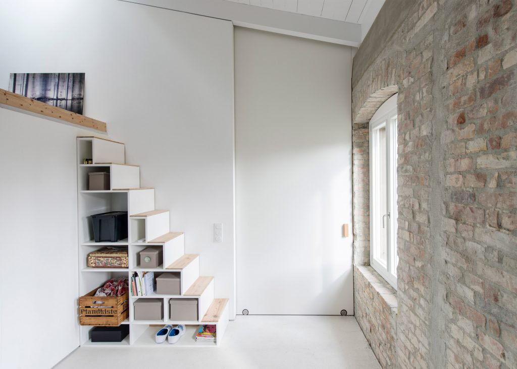 Modern under the stairs storage