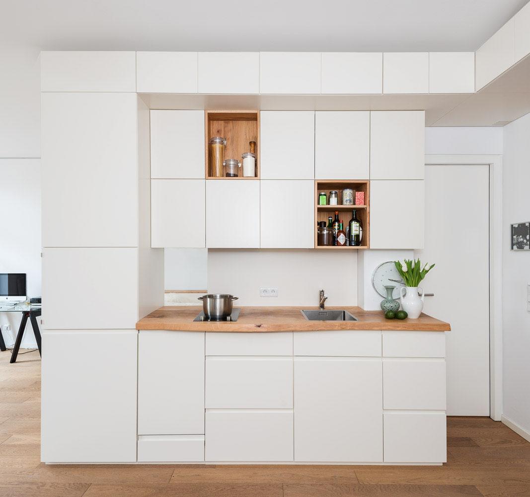 Studio Apartment With Custom Designed Natural Wood Built