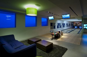 Modern Luxury Home Bowling Alley
