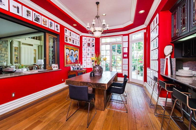 Colorful Red Kitchen