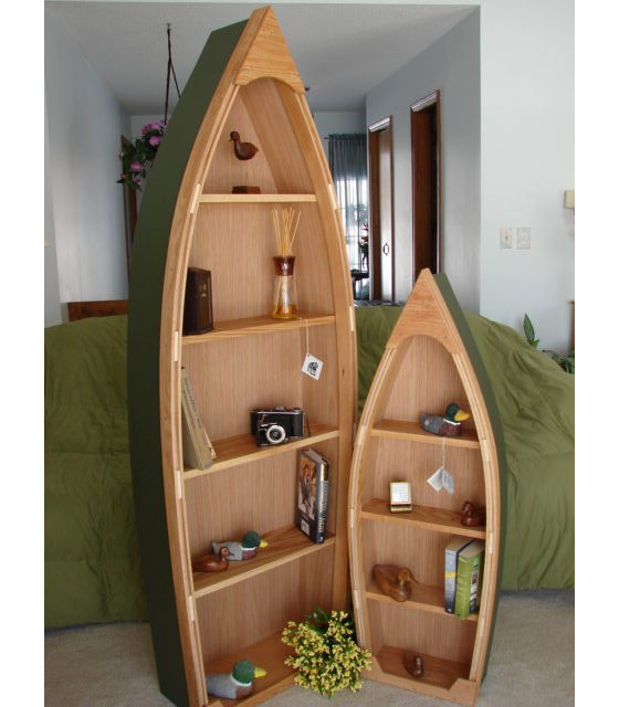 Wooden Boat Shelves Provide The