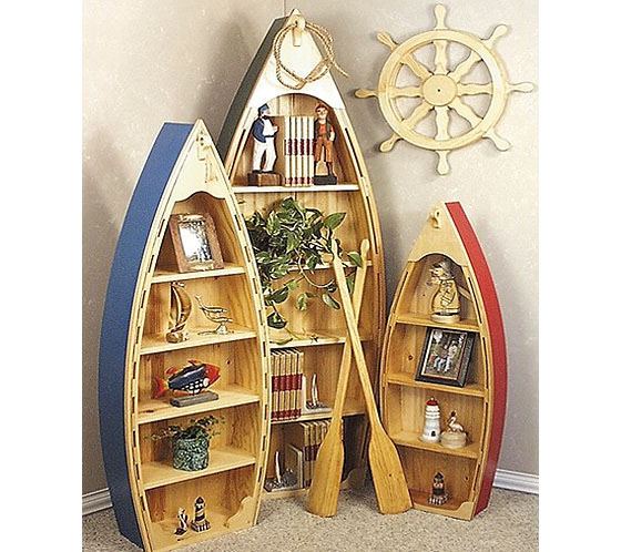 Wooden Boat Shelves Provide The Nautical Look For Any Room ...