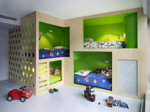 Boy's Room with Bunk Beds