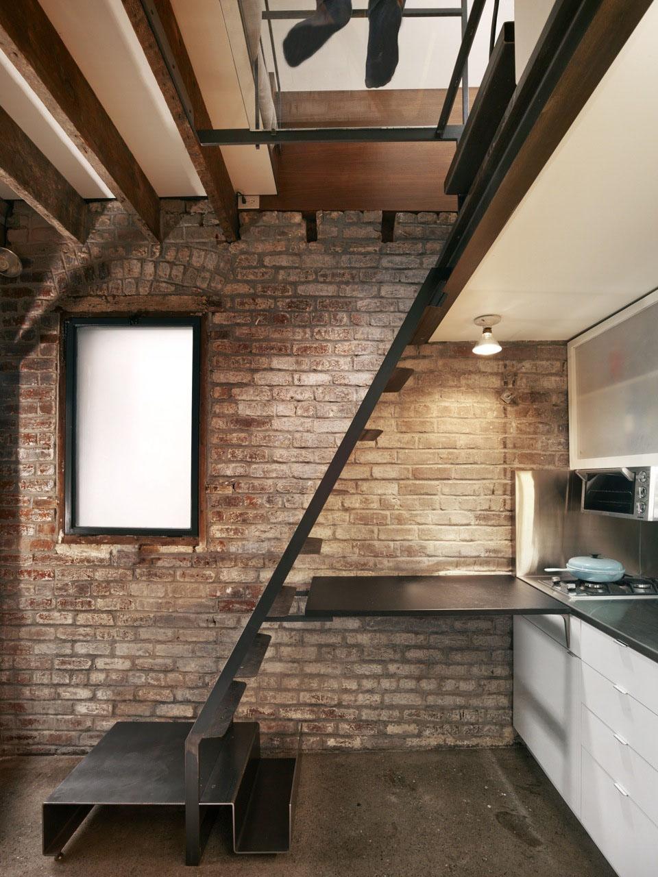 160 Square Foot Micro Apartment In A Tiny Brick House Idesignarch Interior Design