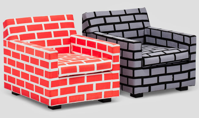 The Bricks Mortar Sofa Collection By British Artist Richard Woods And Designer Sebastian Wrong Is An Unique Eye Catching Using Screen