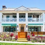 Caribbean Inspired Coastal Home in California with Tropical British Colonial Style Architecture