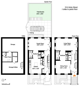 Brooklyn Brownstone Floor Plan